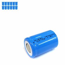 12 pcs 4/5 Sub C SC 1600mAh 1.2V Ni-Cd rechargeable Battery Cell Flat Top Blue