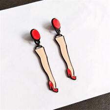 Acrylic Oversized Big Exaggerate Dangle Earrings Female Hip Hop Jewelry Gift Legs