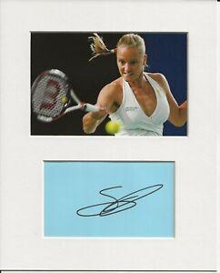 Agnes Szavay tennis signed genuine authentic autograph signature and photo AFTAL
