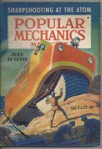 Magazine Popular Mechanics July 1940 Sharpshooting Atoms Baseball Batting