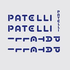 Patelli Bicycle Decals, Transfers, Stickers n.1