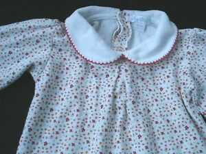 Kissy Kissy White Red Pink Floral One Piece Long Sleeve Outfit Size 12-18 Months