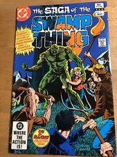 1982 Swamp Thing #1 Vf Art by Tom Yeates
