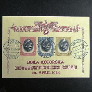 Germany Nazi 1944 1945 Stamps used ERROR Sheet Adolf Hitler Swastika Eagle WWII