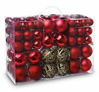100pcs Christmas Baubles Shatterproof Balls Christmas Tree Decoration