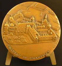 Medaille vue du Château de Chantilly Un Cygne Swan Animal 81 mm R B Baron medal