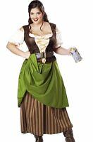 Tavern Maiden Costume Pirate Renaissance Beer Wench Oktoberfest Maid Plus Size
