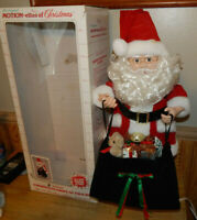 "Vintage Telco Santa Claus Motionette Animated with Bending Action 27"" Tall"