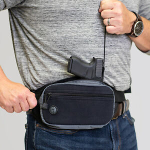 Galco FasTrax PAC Waistpack - Fits Glock 19 and Similar Compact Autos - Ambi