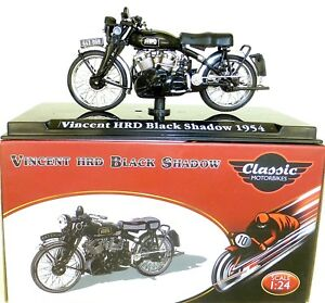 Vincent Hrd Black Shadow 1954 Motorcycle Classic Atlas 4658102 New 1:24 Ob HR2