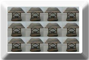"""12 New Bronze Outdoor Garden Solar Panel Post Deck Cap Light to fit 3""""1/2x3""""1/2"""