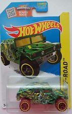 2015 Hot Wheels HW OFF-ROAD Humvee 105/250 (Green Version)