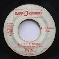 Hear! Northern Soul Popcorn Promo 45 Babs Tino - Call Off The Wedding / Keep Awa