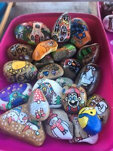 Hand Painted Rocks/stones assorted Designs