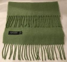 "John Hanley Ireland 100% Extra Fine Merino Wool Fringed Muffler Scarf 12 X 62"""