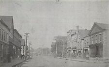 Postcard Moncton Main St Church St looking West New Brunswick Canada