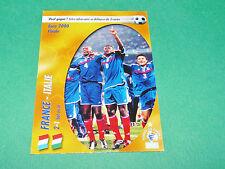 FRANCE ITALIE EURO 2000 CHAMPION ! EQUIPE FRANCE BLEUS PANINI FOOTBALL CARD 2002