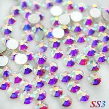 1440pcs SS3(1.3mm) Crystal AB Flat back Rhinestones Glass 3D Nail Art Decoration