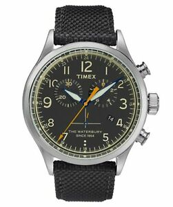 Timex Waterbury Black Dial Canvas Strap Men's Watch TW2R38200