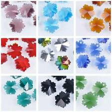 10pcs 14mm Snowflake Faceted Crystal Glass Loose Beads Dangle Drop Prism Pendant