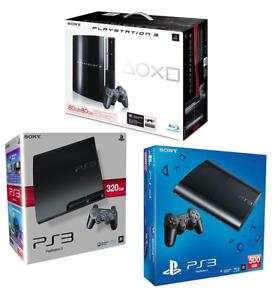 PLAYSTATION 3 PS3 CONSOLE SLIM FAT + JOYPAD E GIOCHI OMAGGIO - GARANZIA UN ANNO