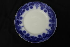 """Vintage Johnson Brothers Flow Blue """"STANLEY"""" Pattern 8"""" Salad or Luncheon Plate"""