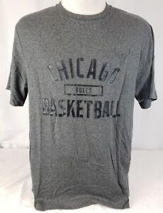 Brand New Men's NBA Fanatics Chicago Bulls Gray S/S Shirt - Large