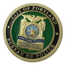 U.S. United States | City Of Portland | Bureau Of Police | Gold Plated Coin