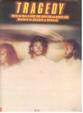 """THE BEE GEES """"TRAGEDY"""" SHEET MUSIC-PIANO/VOCAL/GUITAR/CHORDS-1979-RARE-NEW-SALE!"""
