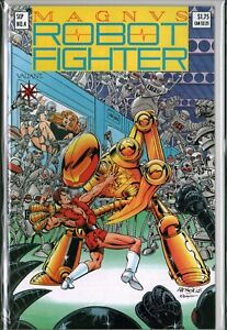 MAGNUS the ROBOT FIGHTER #4 (1991) with card Valiant NM- (9.2)