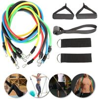 11PCS Resistance Bands Set Pull Rope Home Gym Equipment Workout Fitness Training