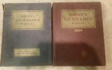 Motors Auto Repair Manual 1935 to 1951 and 1954 Flat rate and parts manual