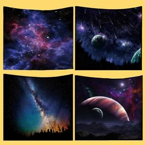 3D Galaxy Space Tapestry Starry Wall Hanging Planets Stars Throw Towel Bedspread