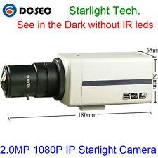 2MP Sony IMX185 Box Starlight IP Security Camera 1080P POE 0.001Lux Low Light