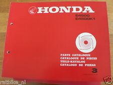HONDA E4500, E4500K1  PARTS CATALOGUE 3 FACTORY BOOK GENERATOR POWER