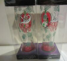 Nightmare Before Christmas Snowman Jack glasses Goblets / glasses set of two new