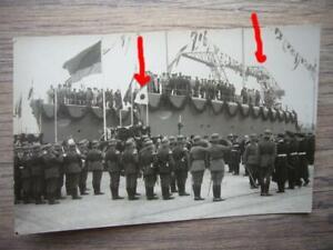 20) Foto Reichsmarine Kriegsmarine - Kriegsschiff - Schiffstaufe & Inndienststel