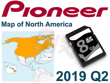 PIONEER AVIC-U250 U260 U280 GPS Map Update 2019 USA Canada SD add-on for AVH AV