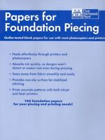 Papers for Foundation Piecing, Paperback, Brand New, Free shipping in the US