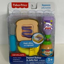 Fisher-Price Pretend Food Play Peanut Butter & Jelly Set Preschool Learning Toy