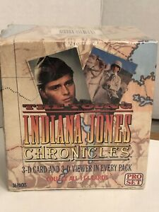 The Young Indiana Jones Chronicles Sealed Trading Card Box Pro Set 36 packs New