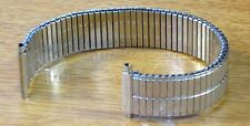18mm 19mm 20mm 22mm Stainless Steel Silver Tone Stretch Jb Champion Watch Band