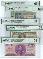 Military Payment Certificate (MPC) Series 692 Partial Set - Exceptional Quality