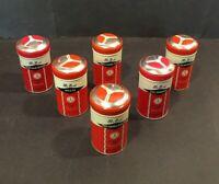 6 Vintage Spice Tins FURST McNESS Co FREEPORT ILLINOIS USA Chicken Pie Potato+