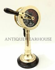 Collectible Brass Telegraph Maritime Marine Ship Engine Room Telegraph Decor