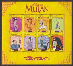 Gambia  3030 - 3037 KB / Sheet **, Walt Disney - Mulan I (13 ME)