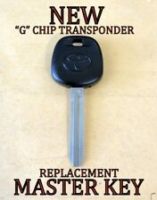 NEW REPLACEMENT TOYOTA G CHIP TRANSPONDER MASTER IGNITION KEY FOR 89785-08040