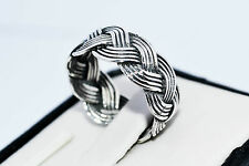 925 UNISEX STERLING SILVER HANDMADE RING SIZE UK-N / R / S ; US- 7 / 9 / 9.5