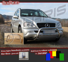 MERCEDES ML W163 FL 02-05 BULL BAR WITHOUT AXLE BARS +GRATIS! STAINLESS STEEL!