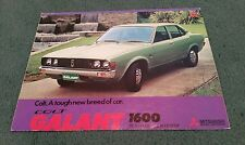 August 1974 / 1975 Model COLT Mitsubishi GALANT 1600 DL SALOON GL COUPE BROCHURE
